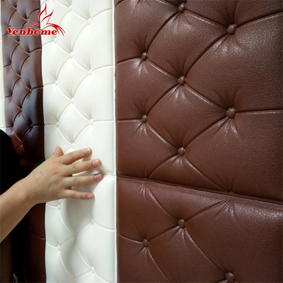 30*60cm/pcs DIY Self Adhesive 3D Wall Sticker Bedroom Decor Brick Room Decor Wallpaper Wall Decor Soft Bag Wall Sticker For Kids ...