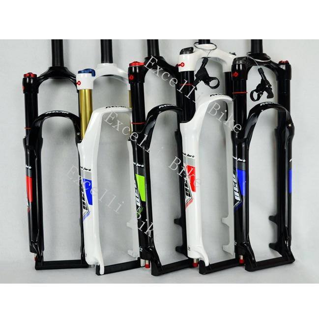 Excelli 26/27.5/29inc Air Shocking Fork Magnesium/Titanium Moutain Bike26/27.5/29er Fork Disc Brake 100mm Travel Suspension Fork