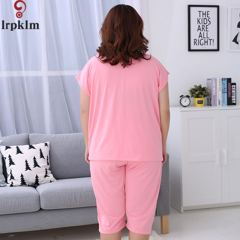 ad6ba0a6b Ladies Pyjamas Spring And Autumn Short Sleeve Sleepwear Cotton Pajamas  Printing Women Lounge Ladies Pajama Set Plus Size SY510-in Pajama Sets from  Underwear ...