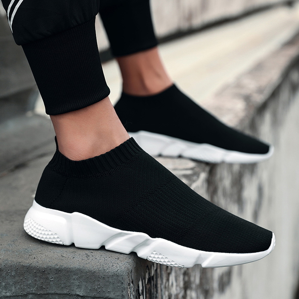 Mens Mesh Slip On Breathable Shoes Casual Walking Outdoor Flats Sports Sneakers