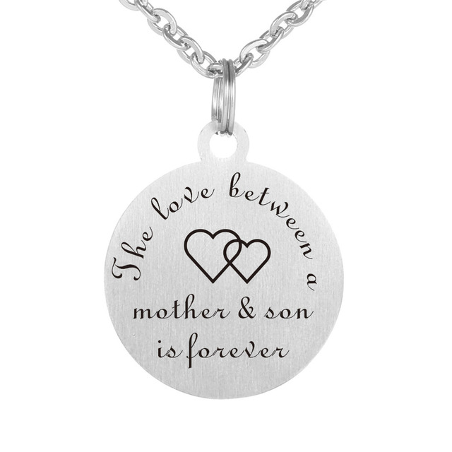 316l Stainless Steel Plate Engraved The Love Between A Mother Son
