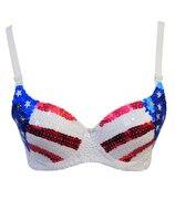 Bán buôn Sexy Lingerie Sexy phụ nữ áo ngực đầu thiết lập Stars and Stripes sequin Bra sequin Bra BP6321