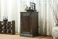Японский антикварный деревянный Чай Кабинета древесина павловнии азиатских традиционных Мебель Гостиная хранение ящика шкафа
