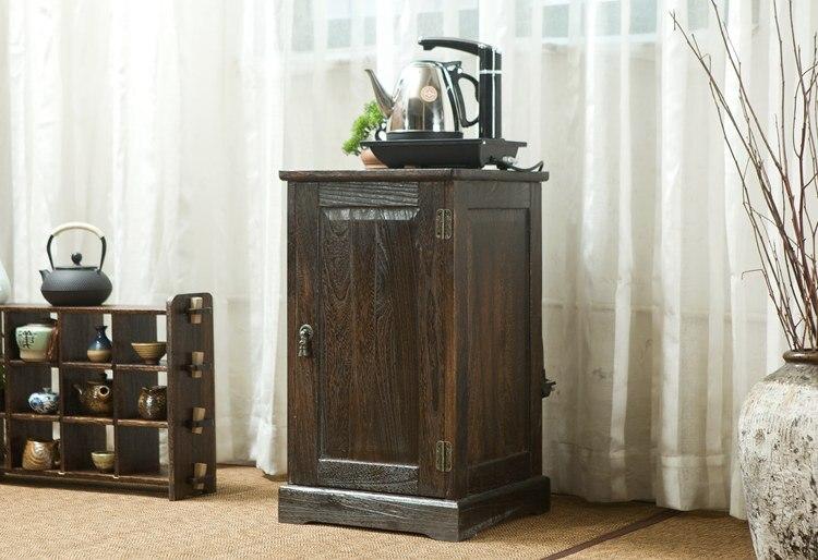 Японский антикварный деревянный чайный шкаф павловния деревянная азиатская традиционная мебель шкаф для хранения ящиков для гостиной