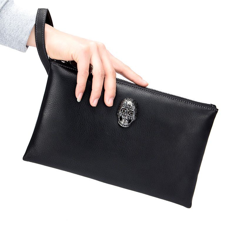 Men Clutches Envelope Bag Business Genuine Leather Men Day Clutch Bag Cowhide High Quality Large Capacity Purse Wallet Handy Bag new oil wax leather men s wallet long retro business cowhide wallet zipper hand bag 2016 high quality purse clutch bag page 8