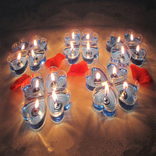 20pcs! New romantic jelly heart-shaped candles  wedding / valentine home decoration candle Smokeless tasteless kaarsen