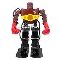 Unassembled Tyson 16 DOF Humanoid Robot Frame Contest Dance Robot with Boxing Glove Hood for DIY