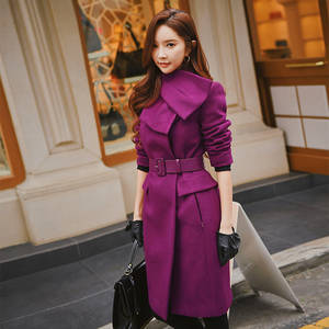 00f31f8eaed Dabuwawa Women Winter Wool 2018 Long Coat lady Jacket