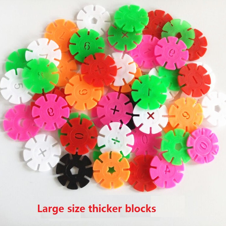Big size Snowflake Building Blocks Children Kid Baby Educational Toys Multicolor DIY Assembling Bricks with numbers toys gift стоимость
