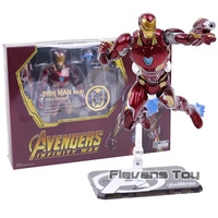 SHF Avengers Infinity War Iron Man MK 50 & Tamashi Stage PVC+Metal Action Figure Collectible Model Toy