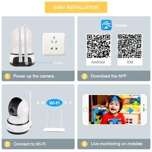 Image 2 - Techage 720P caméra IP sans fil sécurité à domicile CCTV Surveillance vidéo Wifi PT caméra bébé moniteur Vision nocturne Audio bidirectionnel P2P