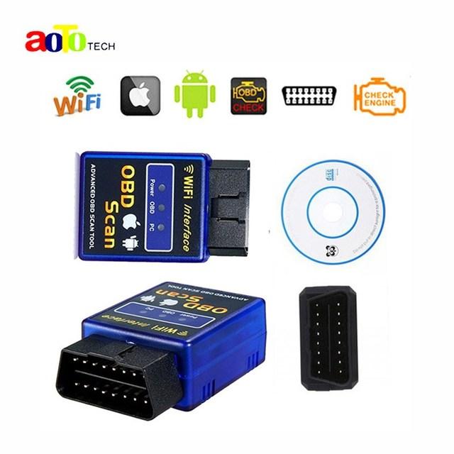 Precio de fábrica Nueva Versión Elm327 WIFI Herramienta de Diagnóstico Del Escáner OBD2 Wifi Elm327 Elm 327 Escáner Inalámbrico China Apoya Todos Los IOS