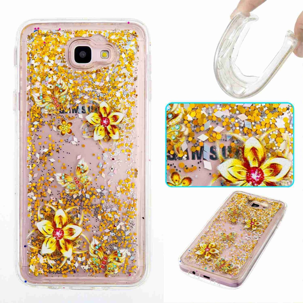 80ec6c3b3c Bling Glitter Stars Liquid Quicksand Soft TPU Phone Case Cover for Samsung  Galaxy J3 J5 J7 prime A3 A5 2017 Back Shockproof Bags