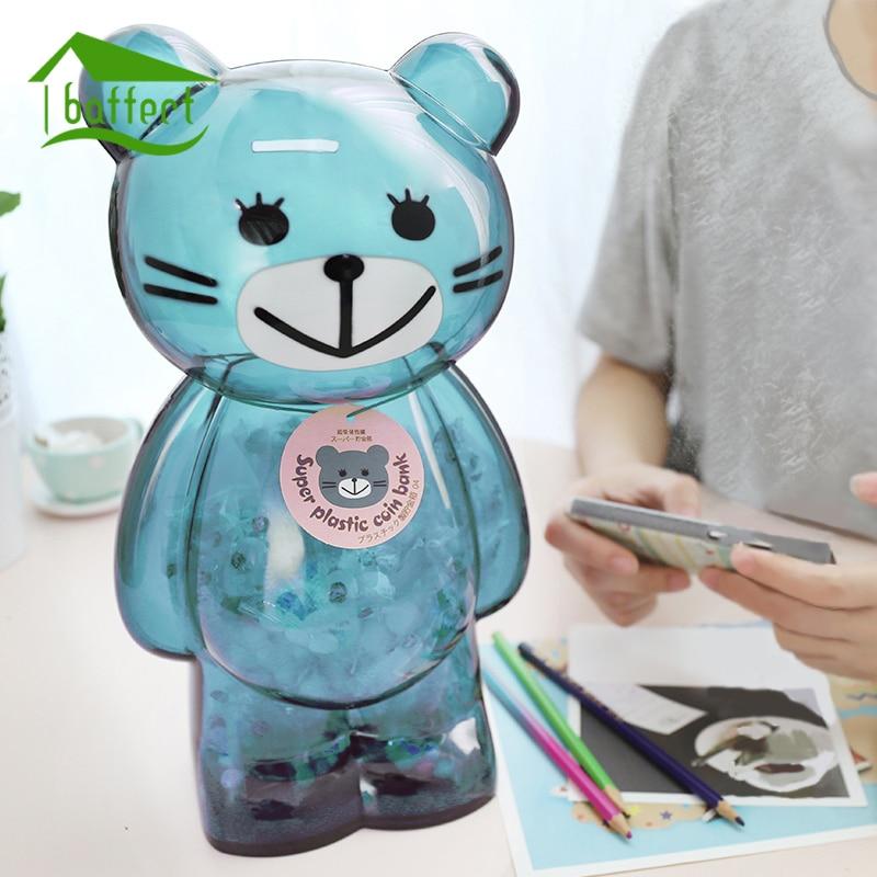 पैसा बॉक्स सूअर का बच्चा बैंक बड़ा भालू प्लास्टिक सिक्का बैंक कार्टून आधुनिक पैसे की बचत बॉक्स घर की सजावट बच्चे बच्चों के लिए शिल्प उपहार