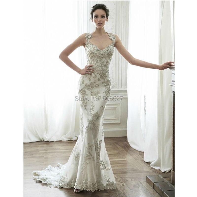 Серебряные свадебные платья