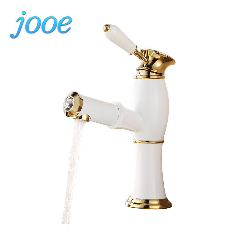 jooe Ceramic white bathroom faucet brass single hole Basin Mixer Pull Out Faucet Hot and Cold taps Single Handle Deck Mounted pastoralism and agriculture pennar basin india