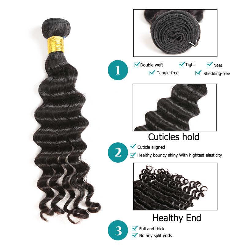 Ali Fumi queen 100% человеческие волосы Бразильский Натуральный волнистый натуральный цвет не Реми волосы 10-26 дюймов 1 шт. можно купить 3 или 4 пучка
