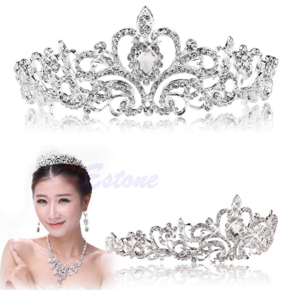 JAVRICK Bridal Princess Austrian Stunning Crystal Hair Tiara Wedding ...
