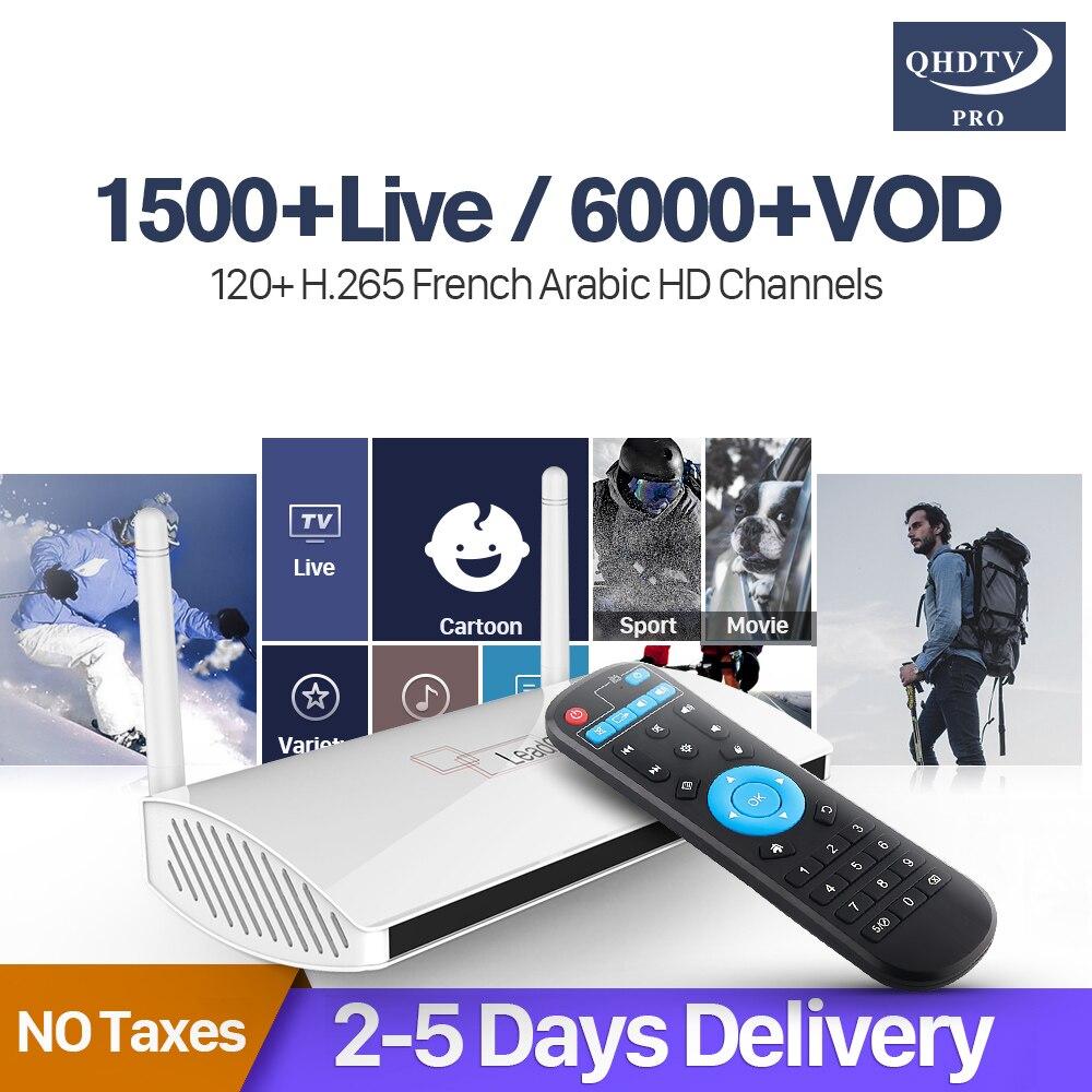 Code IPTV Arabic France TV Receiver Android Rk3229 Quad-Core Leadcool QHDTV Pro Subscription IPTV 1 Year 4k H.265 IP TV smart android 7 1 a95xr1 iptv 4k arabic france s905w 2g 16g qhdtv pro code iptv subscription tv receiver iptv h 265 decoder