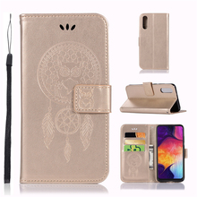 Cover For Samsung Galaxy A50 Case Dreamcatcher Leather Wallet Flip for Phone
