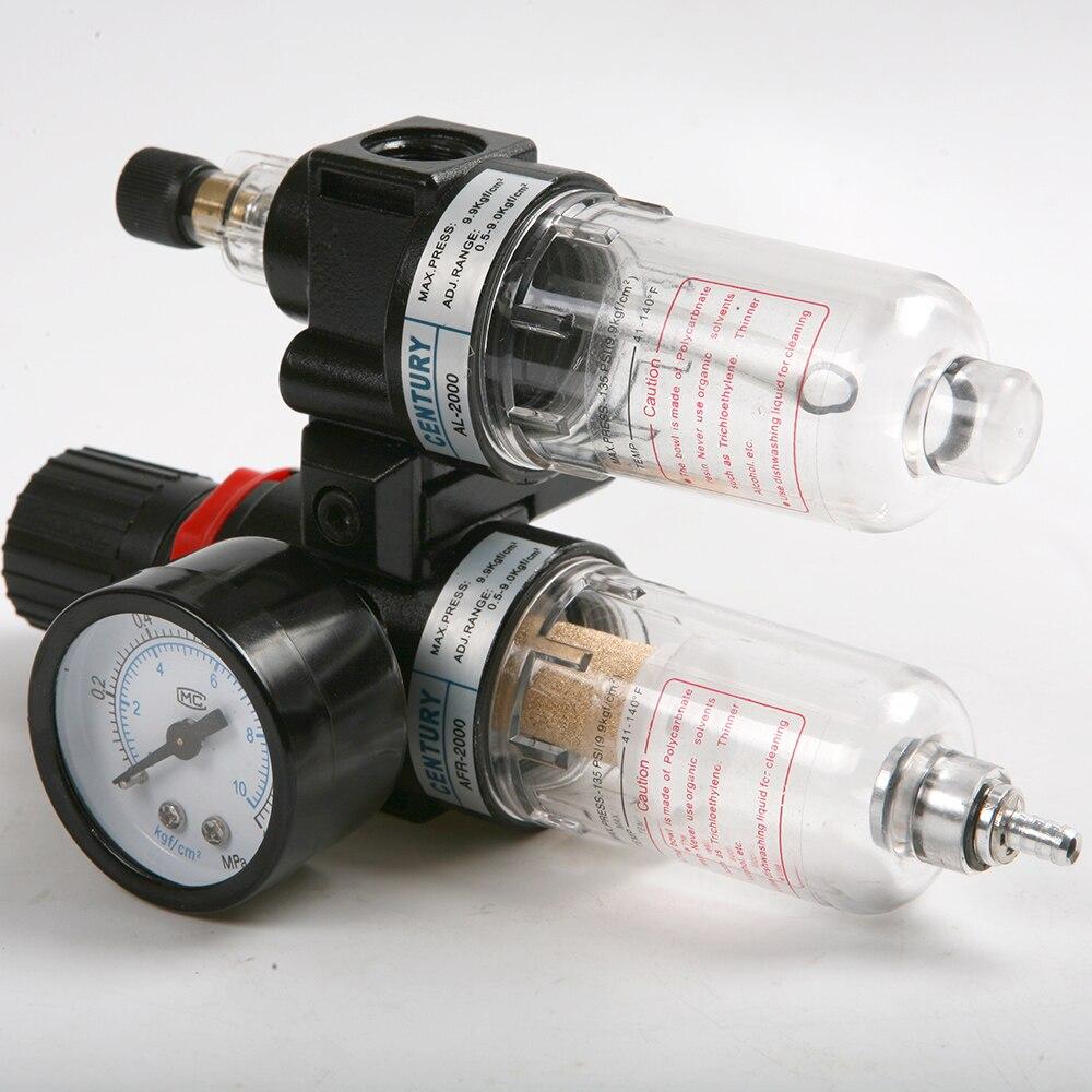 Fximee G1/4 ''En ligne Compresseur D'air Filtre Régulateur Gauge Piège D'eau D'huile 1.0MPa