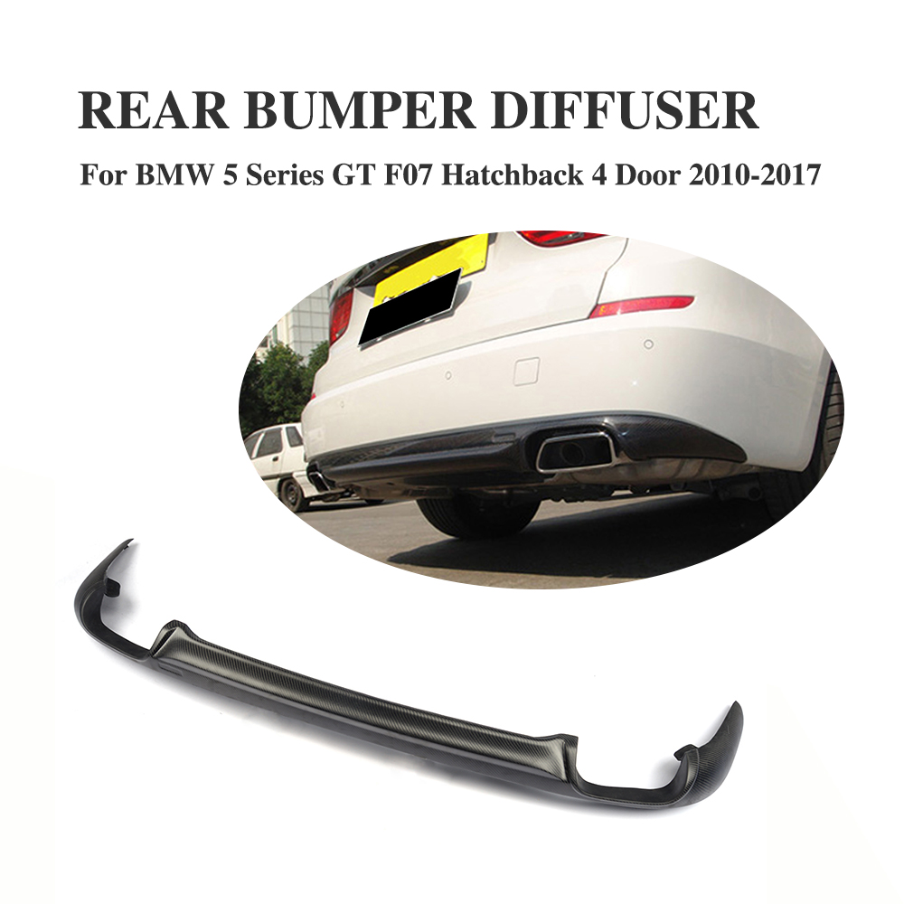 Carbon Fiber Rear Lip Diffuser For <font><b>BMW</b></font> 5 series <font><b>GT</b></font> <font><b>F07</b></font> Hatchback 4 Door 2010-2017 image