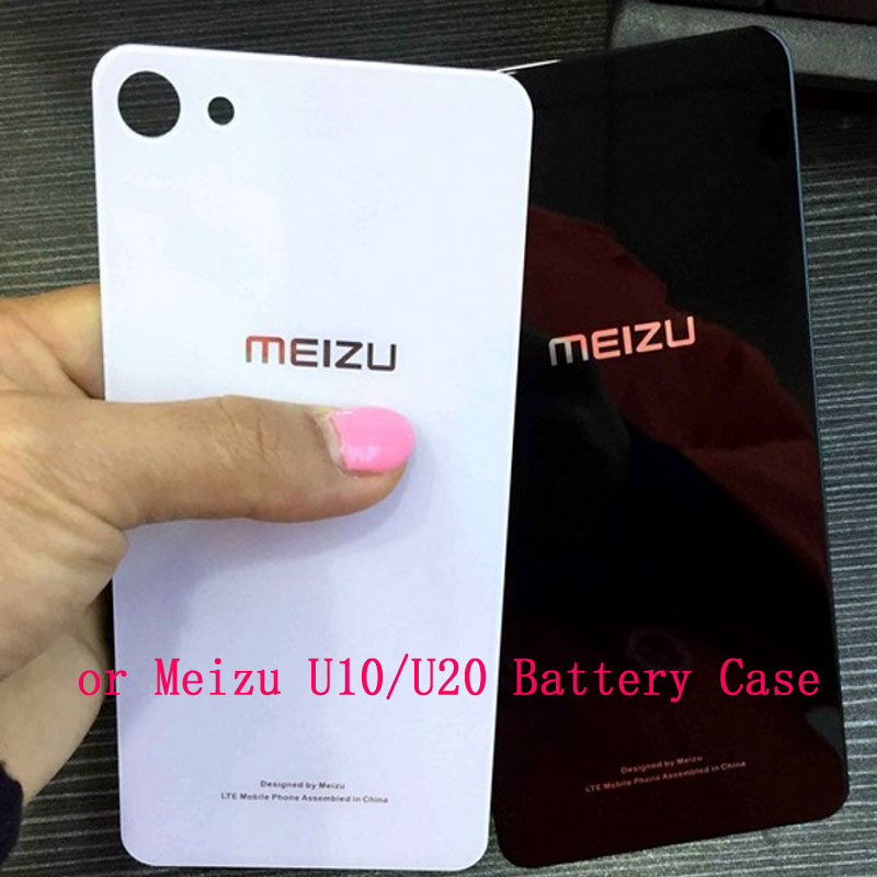 Battery back cover For meizu U10 Back Glass Rear Door Housing Replacement for meizu U 10 Battery Cover With STICKER Adhesive