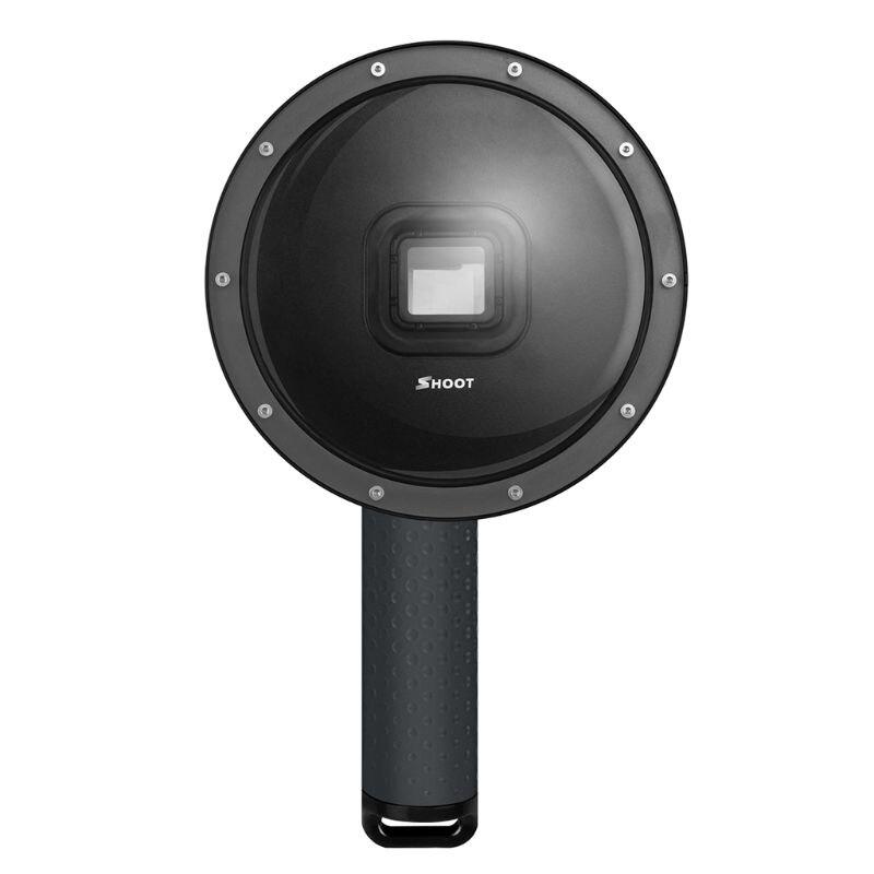 Port de dôme de plongée de 6 pouces pour caméra GoPro Go Pro 7 6 5 caméra de sport noire avec boîtier en plastique étanche