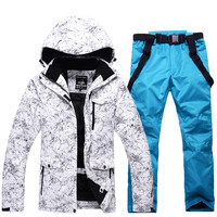 Для мужчин и Для женщин Водонепроницаемый лыжный костюм Mountain Лыжный Спорт костюм для Для мужчин Теплая Лыжная куртка для снежной погоды + сн