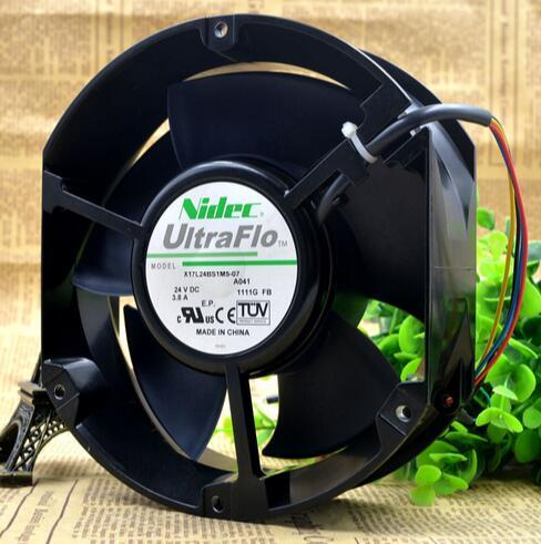 Nidec X17L24BS1M5-07A041 17250 DC 24V 3.8A 17250 17CM Axial Flow Cooling Fan sanyo 9wf0624h404 6025 24v 0 15a waterproof axial cooling fan