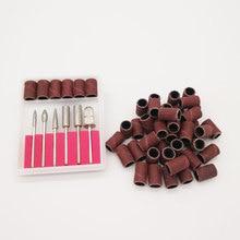 Nail Drills Shaping-Machine Grinding Head-Set Polish-Tips Sandpaper 100pcs with Case