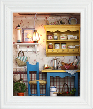 DIY 3D Miniature Assemble Puzzl Creative Wooden Building Dollhouse Kits with Funitures For Child Festival Handmade Gifts