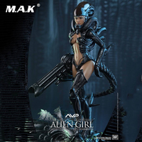 1/6 Full Set Female Alien vs Predator AVP Alien Angel Girl Action Figure Doll Hot Toys HAS002 for Collection Dolls Gift