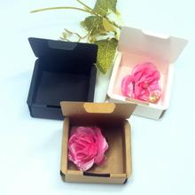 20pcs/lot Kraft Paper Box Wedding Birthday Party Gift Package Box Cardboard Rectangle Candy Box 10pcs kraft paper box black white cardboard gift box festival party small box soap wig pull out box support printing logo