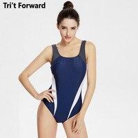 Brand Professional Sports Swimsuit Women One Piece High Quality Athlete Large Size Swimwear Monokini Slim Bathing