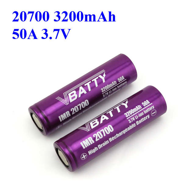 US $5 9 20% OFF|best 20700 battery for vaping cheap price and high quality  Vbatty 20700 battery 3 7V 20700 battery safety 3200mah 50A (1pc)-in