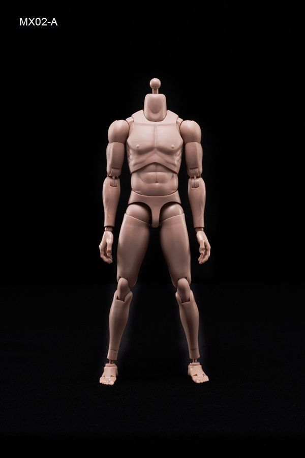 1/6 Scale Male Body with Highly Cost-Effective Edge Caucasian Skin Tone MX02-A NEW Version Model