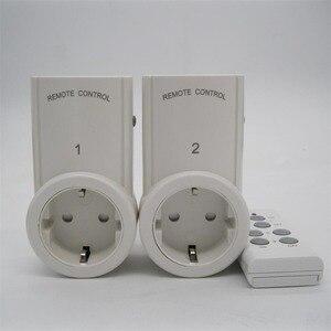 Image 4 - 2ชิ้นซ็อกเก็ตการควบคุมระยะไกลไร้สายหน้าบ้านเต้าเสียบไฟฟ้าสวิตช์ไฟซ็อกเก็ต+ 1ระยะไกลสหภาพยุโรปปลั๊กต่อBH9938 2 DC 12โวลต์
