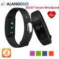 Pulsera inteligente ID107 ID 107 Rastreador de Fitness Bluetooth Pulsera Inteligente Escuchar Monitor de Ritmo Cardíaco Para android IOS Teléfono PK Cicret ALANGDUO