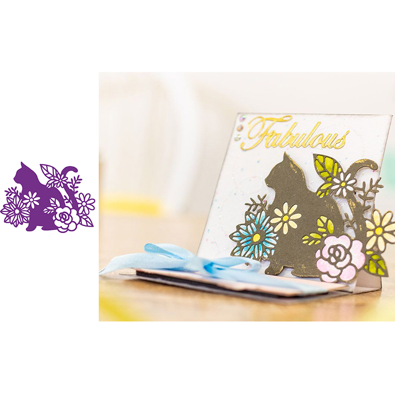 Cat Silhouette Animals Metal Cutting Dies for Scrapbooking and Cards Making Paper Craft Die New 2019