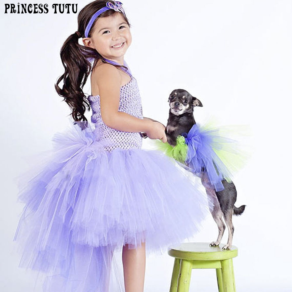 Pretty Purple Bustle Unicorn Tutu Birthday Photo Prop Halloween Costume Girls Size Baby Infant Toddler Little Girls Outfit