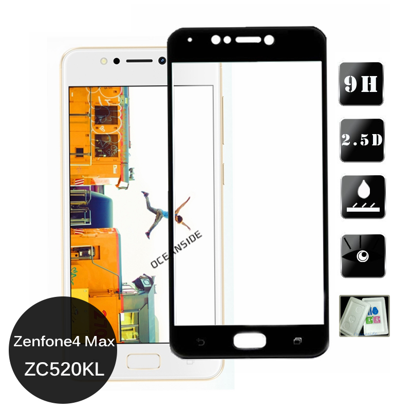 2Pcs For Asus Zenfone 4 Max Zc520KL Full Cover Tempered Glass Screen Protector 9h Safety Cover Film on <font><b>ZC520</b></font> <font><b>KL</b></font> image
