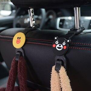 Image 3 - 2 pièces universel multifonctionnel broches clips siège de voiture crochet cintre dans la voiture trucs support suspension Auto intérieur accessoire