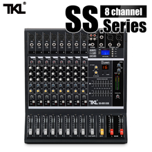 TKL SS800 Professional Audio Mixer with USB DJ Sound Mixing Console MP3 Bluetooth With 16 Reverb effect 7 Equalizer S leory professional 4 channels dj mixer sound mixing console with usb mp3 jack live audio mixer for karaoke ktv meeting speech page 7