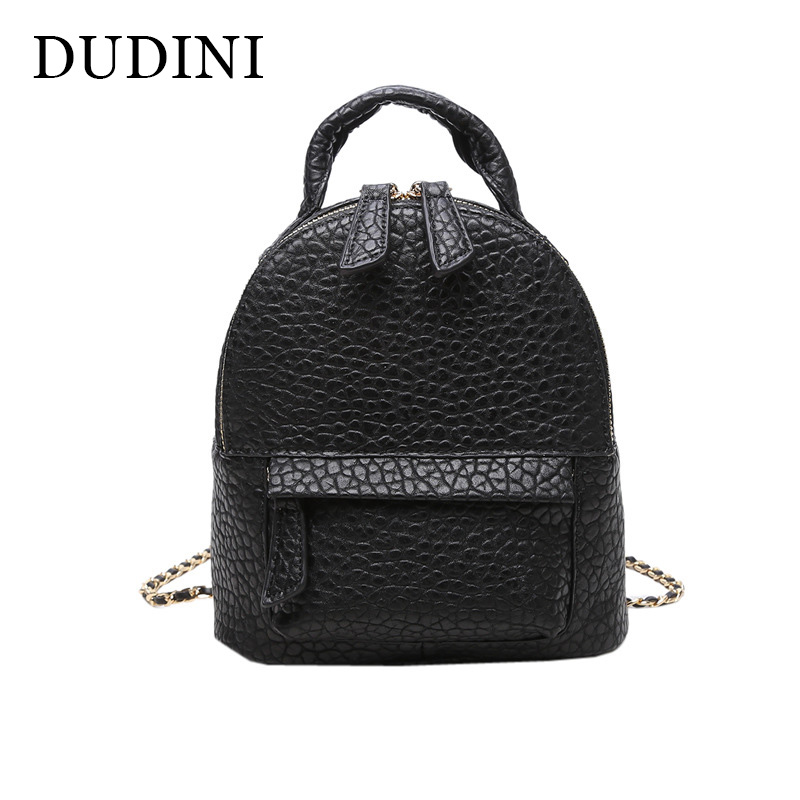 DUDINI Korean Fashion Tide Backpacks Simple Mini Dual Use School Bag For Teenagers Small Women Travel