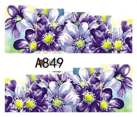 1sheet 6X5.2cm flower style Water Transfer Nail Stickers Decals Art Tips Decoration Manicure Stickers 1 sheet beautiful nail water transfer stickers flower art decal decoration manicure tip design diy nail art accessories xf1408