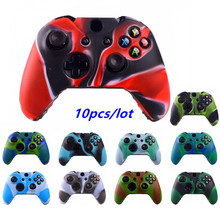 10pcs Durable Camouflage Camo Silicone Gel Guards Soft sleeve Skin Grip Cover Case For Microsoft Xbox One 1 Controller Protector commonbyte for xbox 360 controller silicone gel case skin 2pc unlock opening tools t8