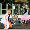 Девушки цветка Съемный Стикер Винила для Новорожденных Девочек Красивый Цветок Стикер Дома Игрушки Наклейка