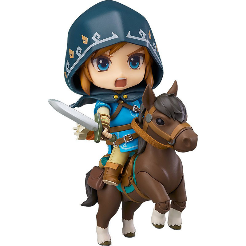 The Legend of Zelda 733-DX Nendoroid Link Zelda Figure Breath of the Wild Ver DX Edition Deluxe Version Action Figure 10cm anime the legend of zelda 10cm boxed action figure toys c0a311