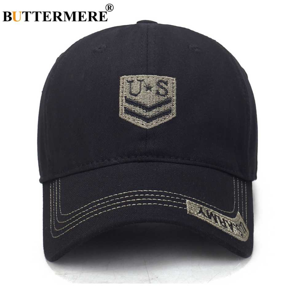 BUTTERMERE Men Baseball Caps Camouflage Embroidery Baseball Caps Male Summer Outdoors Cotton Adjustable Army Snapback Caps 2019